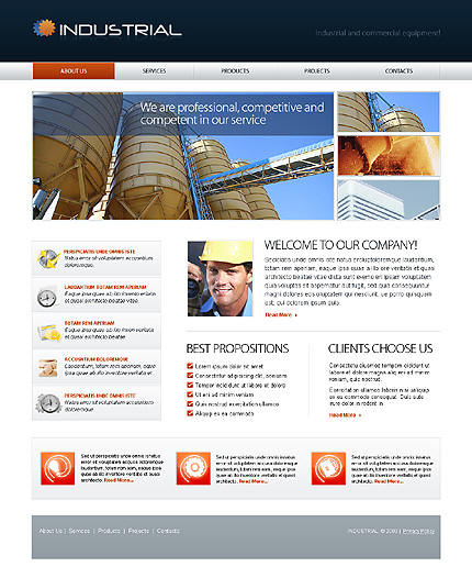 Industrial website design portfolio industrial web designs for Industrial design sites